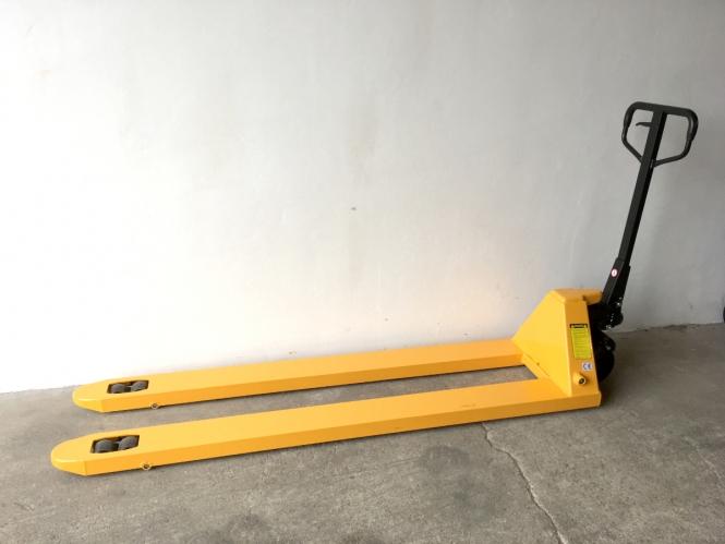 Nový paletový vozík M2000R - dlouhý, pevnostní ocel, 2500 kg