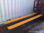 Nové prodloužené vidle 1600 mm, šířka 100 mm